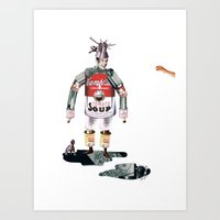 knight Art Prints featuring knight by swinx