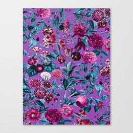 Romantic Floral Pattern Canvas Print