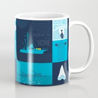 jaws Mugs featuring Jaws! by tim weakland