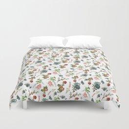 Antique Floral Pattern Duvet Cover