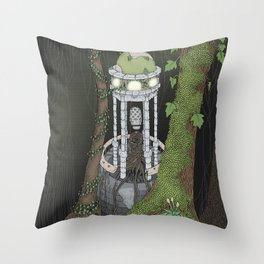 temple of the gatekeeper Throw Pillow