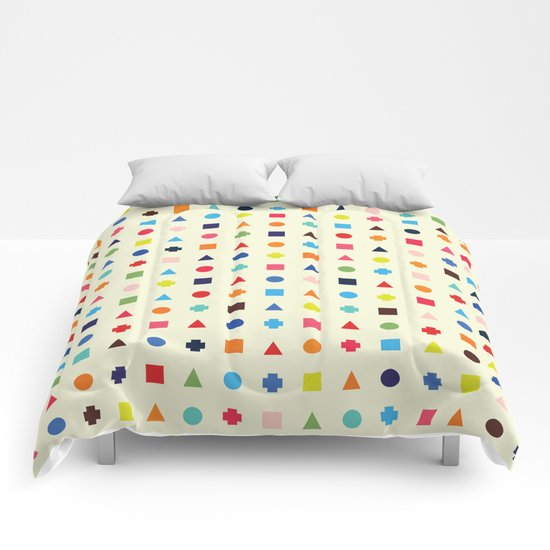Dot Triangle Square Plus Repeat Comforters