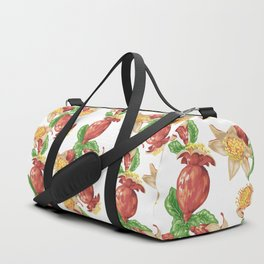Pomegranate Fruit in Graphic Drawing Duffle Bag