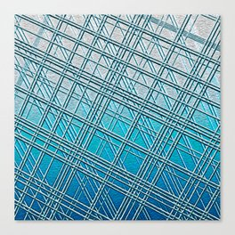 Steel Blue Sky Lines Canvas Print