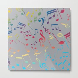 Musical Notes 3 Metal Print