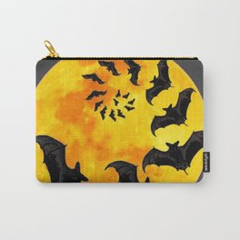 HALLOWEEN BAT INFESTED HAUNTED MOON ART DESIGN Carry-All Pouch