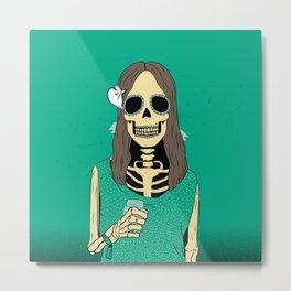 Mrs Bones Metal Print