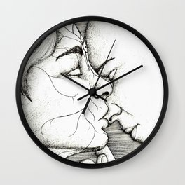 Kiss on the nose Wall Clock