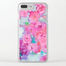 Rose Cascade Clear iPhone Case