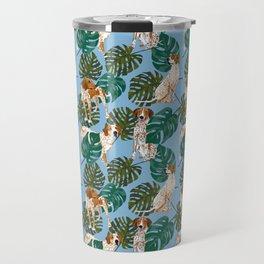 Tropical Redtick Coonhounds Travel Mug