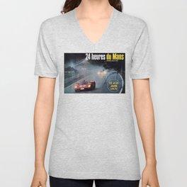 Le Mans 1972, race poster, car poster Unisex V-Neck