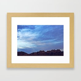 Organ Mountains Framed Art Print
