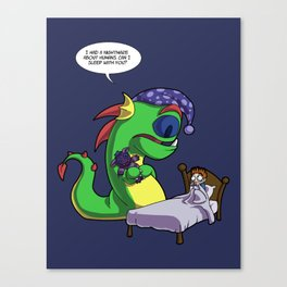 Scaredy Monster Canvas Print