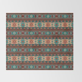 Southwest Design Turquoise Terracotta Throw Blanket
