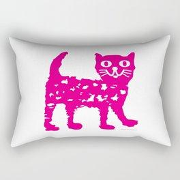 Magenta cat, cat pattern, cat design Rectangular Pillow