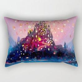 I see the lights Rectangular Pillow