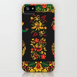 Native russian khokhloma iPhone Case