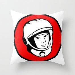 Cosmonaut Yuri Gagarin Throw Pillow