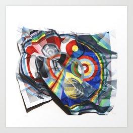 A Delaunay crumpled. Art Print