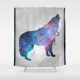 Galaxy Series (Wolf) Shower Curtain