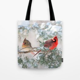 Remembering.... (Northern Cardinals) Tote Bag