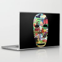 spirited away Laptop & iPad Skins featuring No Face by Ilse S