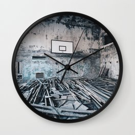 Chernobyl basketball court Wall Clock