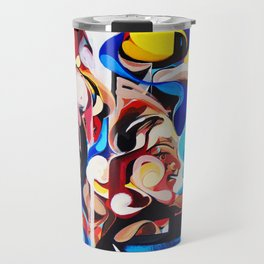 Expressive Abstract People Composition painting Travel Mug