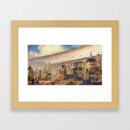 Racing Season in Empire City Framed Art Print