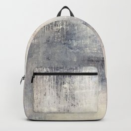 """1198 abstract beige/silver wall"" Backpack"