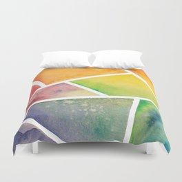 Rainbow Watercolor Duvet Cover