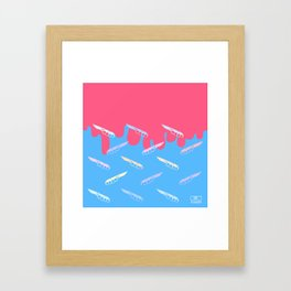 Is not easy the seifuku life. Framed Art Print