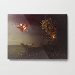 Fantasy boat Metal Print