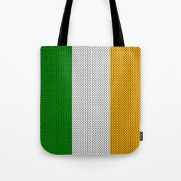 Flag of Ireland - knitted Tote Bag