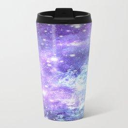 Grunge Galaxy Lavender Periwinkle Blue Travel Mug