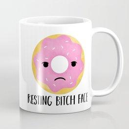 Resting Bitch Face   Pink Sprinkled Donut Coffee Mug