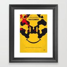 No599 My watch men minimal movie poster Framed Art Print