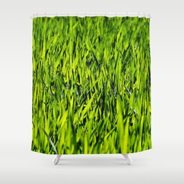 Green Grass Shower Curtain