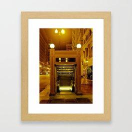 Chicago Subway Framed Art Print