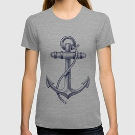 Anchor and Navy Blue Stripes T-shirt