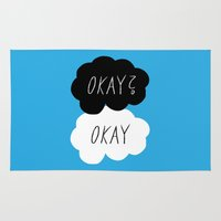 okay Area & Throw Rugs featuring Okay? Okay by Lola
