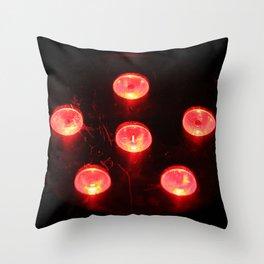 Fire Lights Throw Pillow