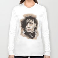 edward scissorhands Long Sleeve T-shirts featuring Edward Scissorhands by Stephanie Nuzzolilo