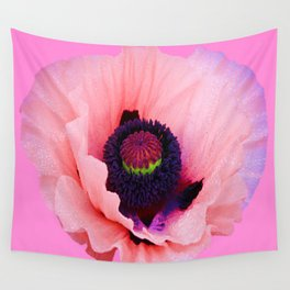 PURPLE  POPPY FLOWER  VIGNETTE Wall Tapestry