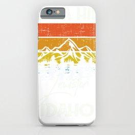 Lewiston Idaho Vintage Take A Hike iPhone Case