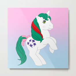 g1 my little pony Gusty Metal Print