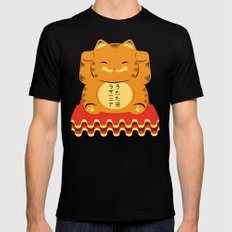 Lucky Garfield Black Mens Fitted Tee 2X-LARGE
