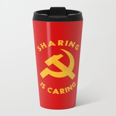 Sharing Is Caring Metal Travel Mug