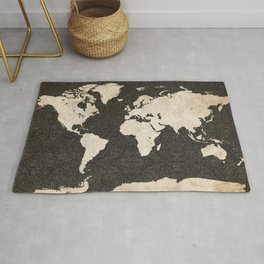 World Map - Ink lines Rug
