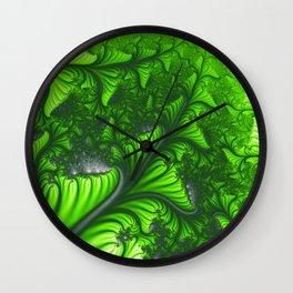 Jungle fractal Wall Clock